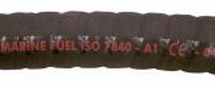 Brandstofslang 38x42 mm zwart ISO 7840 A1 CE keur