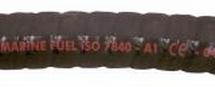 Brandstofslang 51x61 mm zwart ISO 7840 A1 CE keur