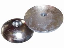 Aluminium roerblad anode  plat Ø 220mm gewicht 2,8 kg
