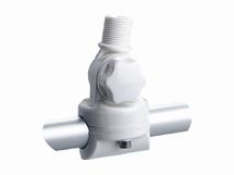 Antennevoet  railingmontage nylon 22 en 25mm