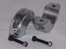 Aluminium schroefas-anode diam. 22mm  ringvormig