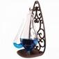 Donderglas met anti lek houder  gietijzer-glas