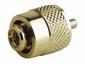 Coax stekker MALE voor soldeervrij verbinden verguld