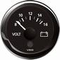 VDO Voltmeter  8-16V  zwart diameter  52mm