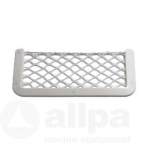 Opbergnet wit kunsstof met wit elastisch net hxb  180x365mm