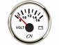CN Voltmeter  8-16V  wit/chroom  diameter  52mm