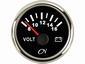 CN Voltmeter  8-16V  zwart/chroom  diameter  52mm