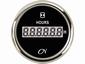 CN bedrijfsurenteller   zwart/chroom  diameter  52mm