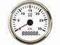 CN Toeren- bedrijfsurenteller  wit/chroom  diameter 85mm