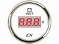 CN Voltmeter    wit/chroom digitaal  diameter  52mm
