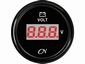 CN Voltmeter   zwart/chroom digitaal  diameter  52mm