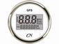 CN GPS Snelheidsmeter  digitaal wit/chroom  diameter  52mm