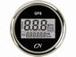 CN GPS Snelheidsmeter  digitaal zwart/chroom  diameter  52mm