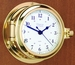W&P Cutter Quartz Clock in Brass (210500)
