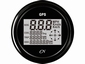CN GPS Snelheismeter  met compas digitaal zwart/zwart Ø 96mm