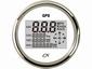 CN GPS Snelheismeter  met compas digitaal wit/chroom Ø 96mm