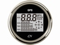 CN GPS Snelheismeter  met compas digitaal zwar/chroom Ø 96mm