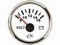 CN Voltmeter  16-32  wit/chroom  diameter  52mm