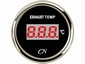 CN  uitlaatgas temperatuurmeter digitaal zwart/chroom