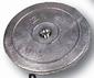 Zinken roerblad-anode  diam. 130 mm    (paar met bout)