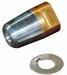 Dopmoeren met zinkanode kompleet met RVS borgring 45mm