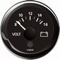 VDO Voltmeter  18-32V  zwart diameter  52mm