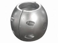 Aluminium schroefas-anodes bolvormig
